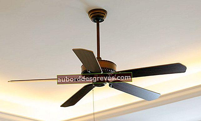 천장 선풍기 청소 : 4 가지 실용적인 팁