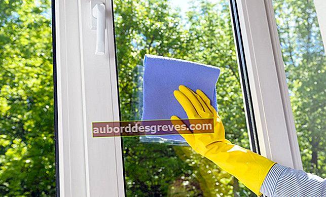 Wie entferne ich Kleber von einem Fenster?