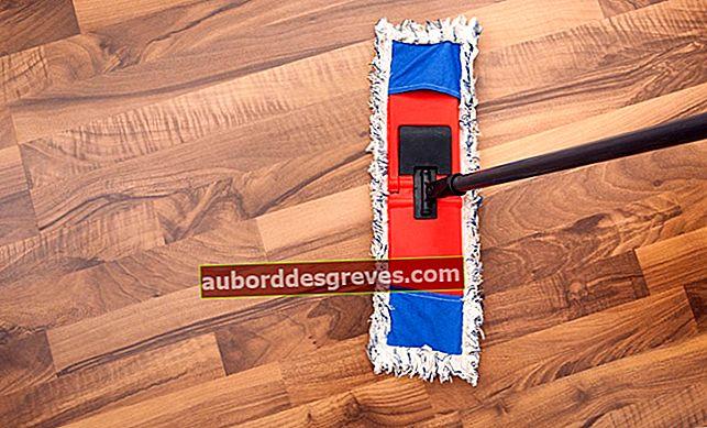 Reinigen Sie Holzböden mit Naturprodukten